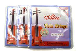 2019 violões profissionais 3 conjuntos de Alice A903 níquel prata ferida Viola Cordas Conjunto de 4 cordas 1o-4a frete grátis