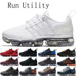 migliori scarpe da corsa imbottite Sconti 2019 Run Utility Mens Running Shoes di qualità migliore Nero Bianco Argento TN più donne Cuscino Sneakers Vapori Sport Dimensioni US5.5-11 EUR36-45