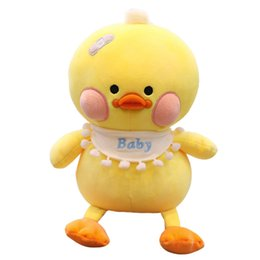 stuffed plush yellow duck Promo Codes - 30cm Small Yellow Duck Stuffed Doll Toys Plush Animals Soft Kids Baby Toys for Girls Children Boys Birthday Gift Kawaii Cartoon