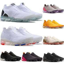 2018 Moc 2.0 Releasing Mens Laceless Multicolor Triple Nero Bianco Giallo Scarpe da corsa per le donne Moc Sports Sneakers da ginnastica 36 45