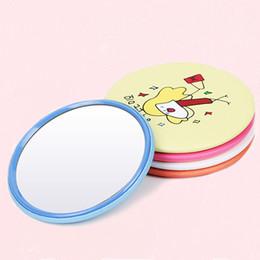 2019 isolierfolienpapier Förderung Cartoon Muster Tragbare Tasche Mini Kosmetikspiegel Frauen Mädchen Kosmetik Kleine Nette Multi Styles Runde Make-Up Spiegel DH0722 T03