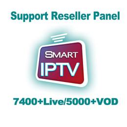 Caja de tv inteligente google pc online-7400 + Abonamiento de TV en vivo IPTV 5000 + VOD Iptv Suscripción Francia Árabe Italiano Turkic Alemania para Android TV Box M3u Smart TV PC