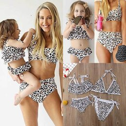 1ff88d2574 Ins leopard mommy and daughter matching outfits family matching Bikini kids  swimwear Girls Swimsuit Two-piece Kids Bathing Suits A5031