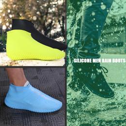 Étanche Chaussures Couverture Silicone Non-Slip Hommes Bottes De Pluie Chaussures Protecteurs Silicone Caoutchouc Chaussure Couverture Doux Délicat Dropshipping ? partir de fabricateur