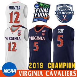 2019 michael jackson azul NCAA Virginia Cavaliers Kyle Guy Jersey De'Andre Hunter Ty Jerome Mamadi Diakite 2019 Campeões de basquete