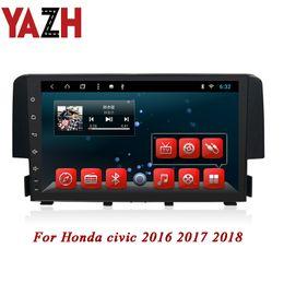 2019 video hindi mp4 YAZH Android 1080 * 600 Car Multimedia Sat Navi Per Honda civic 2016 2017 2018 autoradio Autoradio Ingresso video Display da 2 GB 32 GB HD CAR DVD video hindi mp4 economici