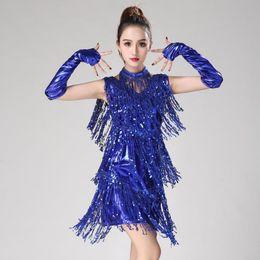 2019 abiti da frangia samba Latin Dance Dress Women / Girls / Lady New Sexy Fringe Salsa / Ballroom / Tango / Cha Cha / Rumba / Samba / Abiti latini per ballare sconti abiti da frangia samba