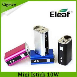 Usb multi kabel online-Išmoka Eleaf Mini Istick Kit 1050mAh eingebaute Batterie 10w Max Output Variable Voltage Mod 4 Farben mit USB-Kabel eGo-Anschluss