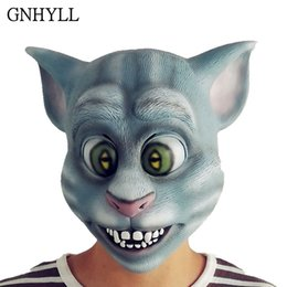 latex katzenmaske Rabatt GNHYLL New Tom Cat Mask Halloween-Party-Bar Prom Props Kindertags-Geschenk Spielzeug Full Face Latex Material Cosplay Maske