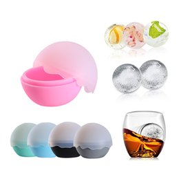 Palle di ghiaccio rotonde online-Ice Balls Maker Round Sphere Tray Silicone Ice Mold Cube Whiskey Ball Cocktails Silicone Home Use Tool MMA1942