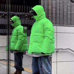 Bermudas dupla face on-line-19FW Vetements Double-sided desgaste Down Jacket Homens Mulheres seção curta Coats Rua Casacos de inverno quente Cotton Casacos Outdoor HFYMYRF047