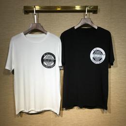 círculos de ropa Rebajas Diseñador Marca Hombres Camiseta Camiseta de lujo Insignia de moda círculo trunks Carta Camiseta Algodón Ropa casual Tee Tops 2019 primavera verano