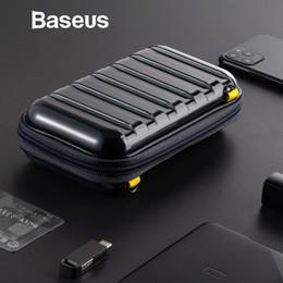 Baseus Waterproof Bag Digital USB Cable Card SD fone Mobile Phone Storage Bag Pouch Organizador Travel Bag acessórios Malas de Fornecedores de sacos de rolo