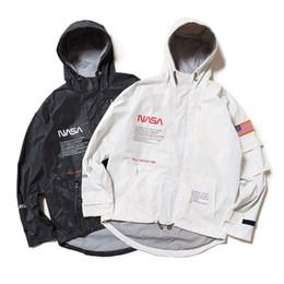 giacche da windbreakers per uomo Sconti HERON PRESTON NASA Giacca a vento con cappuccio 2019 Uomo Donna Marca Giacche Cappotti Mens Giacca a vento Alta tecnologia Streetwear