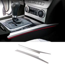 Titolari di stallo online-Car Styling Gear Shift Box Paillettes Titolare della tazza di acqua Copertura Trim Stall Decorazione striscia sticker Per Mercedes Benz C classe W204 2008-2014