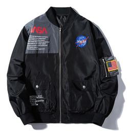 НОВАЯ НАСА бомбер куртка Ma1 Bombers куртка мужская KANYE WEST для пилота летная куртка мужчины бейсболки военные куртки yeezus от