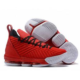 size 40 f128f 38038 Zapatos de baloncesto Lebron 16 para hombre de alta calidad Red James 16  XVI Últimos entrenadores Diseñador deportivo Zapatillas Outlet