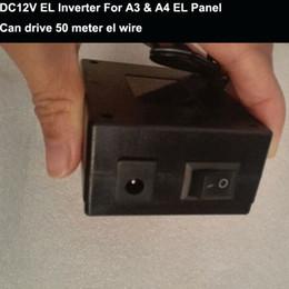 Livraison gratuite A3 / A4 Panneau EL DC12V EL Onduleur / Pilote EL Éclairage constant Chargement 50 mètres de fil EL ? partir de fabricateur