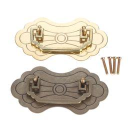 Porte en laiton vintage en Ligne-Bronze antique poignée de meuble matériel laiton laiton poignée de traction vintage pour porte armoire armoire boîte en bois 128 * 70mm