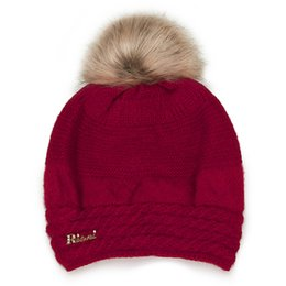 813b27d5af075 New Arrival Winter rabbit hair hat women s Korean version of pure color  with fleece warm wool hat thickened protective ear young