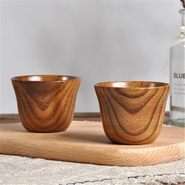 cabeza de cráneo vodka vasos de chupito Rebajas Accesorios de cocina Natural y respetuoso con el medio ambiente Jujube Taza de café Taza de café Oficina de madera Taza de madera especial
