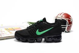 zapatos de punto para niños Rebajas 2019Vapormax KPU Knitting VM Niños portátil que ejecuta zapatos para niños 2018 zapatos del amortiguador Deportes Niños Niñas Formación zapatillas de deporte