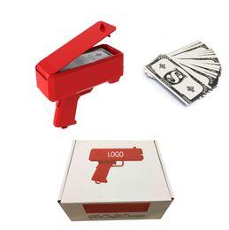Silence Money Gun Toy Red Pink Fashion Regalo di Natale Giocattoli per feste Gioco 1PCS Money Gun Versione batteria giocattolo da