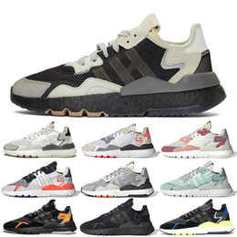 Golf new york en Ligne-Adidas Nite Jogger Chaussures Core Jet Noir Carbon Set Londres New York Paris Blanc Trace Rose Triple SNS Exclusive Runing Chaussures