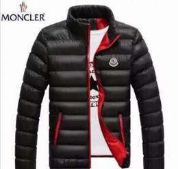 2019 capucha chaqueta de pana Venta al por mayor-2019 New Mens White Goose Down Parkas estilo delgado Soft Man Winter Warm abrigos Stand Collar Casual cómodo de invierno