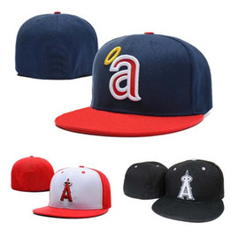 angel hats Coupons - Fashion Letter A Cap Angels Men Fitted Hats Flat Brim Embroiered Brand Designer Sports Team Fans Baseball Caps Full Closed Chapeu
