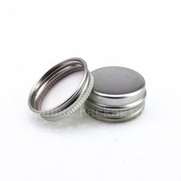 Canada 5g Mini bocal en aluminium contenant de la crème pour échantillons de crème en pot cheap aluminum sample bottles wholesale Offre