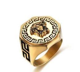Wholesale New Herren High L Solid Ring Edelstahl Ring Biker Unique Ring für Mann ift