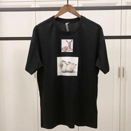 Frühling sommer 2019 luxus europa england malerei bambi hirsch malerei t-shirt mode männer frauen t-shirt lässig baumwolle t top von Fabrikanten