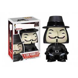 Hand machen spielzeug online-V-Vendetta Team handgefertigte Ornamente Spielzeug Modell mysteriösen Mann freie Kämpfer V fremde Puppen Peripherieprodukte EEA512