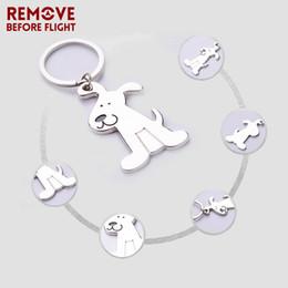 2019 chaveiro de cão atacado Atacado New Fashion Jewelry Chaveiro Adorável Filhote de Cachorro Em Forma de Keychain Presentes Criativos Chaveiro para Crianças Dog Key Ring 10 PÇS / LOTE chaveiro de cão atacado barato