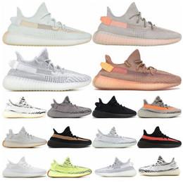 2019 размеры замороженной обуви обувь Мужской 350ing V2.0 Желтого Off Semi Frozen Cream White Zebra Бреда Beluga Kanye West Идущих женщины обувь Кроссовки размер 36-46 скидка размеры замороженной обуви