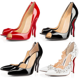 4354129be510e1 rosa nackte high heels Rabatt Frauen Kleid Schuhe Designer rote untere High  Heels 11cm Nude schwarz