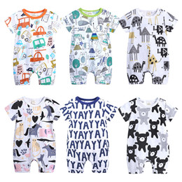3513825f5 baby animal romper summer Promo Codes - Ins Baby Boy girl Clothes Infant  clothing Jumpsuits Cartoon Find Similar. 5