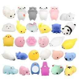boring toys Coupons - 30PCS Mini Animal Stress Relief Animal Toys Mochi Squeeze Toys Mini Seal Bear Cat Tiger Pig Smile Cloud Squishies Random Color