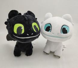 animali di drago roba Sconti Come addestrare il tuo drago 3 Stuffed Animals Doll Toothless Light Fury Soft White black Dragon Stuffed Animals Doll giocattoli per bambini