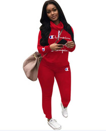 Golfe c on-line-19SS Outono C marca desgaste das Mulheres Stack gola terno Impresso Roupas Alfabética Designer de Marca desgaste das Mulheres roupas de Lazer