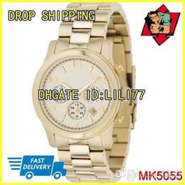 26bbd5983d32 100% ORIGINAL JAPAN MOVEMENT New MK5055 MK5076 MK5128 MK5137 MK5170 MK5304  MK5305 MK5315 MK5662 Ladies Runway Champagne Gold Designer Watch