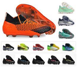 Botas con punta online-Nuevo Griezmann Reus FUTURE 2.1 NETFIT FG / AG Suarez Griezmann 18.1 Netfit On / off FG hyFG Spike Fútbol de fútbol para hombre Calzado Botas