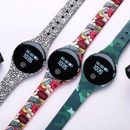 Bluetooth Smart Watch Дети Oled Цветной экран Ip67 Водонепроницаемый Фитнес-Браслет Интеллектуальный Шагомер Smartwatch Для Ios Android J190526 от