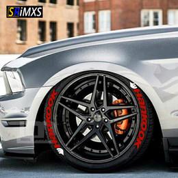 Tuning 3d online-Auto tuning logo universal 3D etiqueta engomada de la rueda del neumático Auto motocicleta estilo personalizado divertido decoración de deportes pegatinas calcomanías