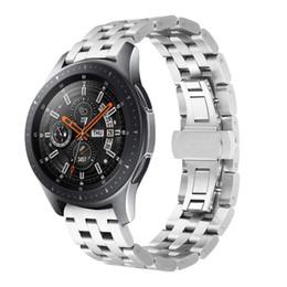 Correa de acero inoxidable para Samsung reloj inteligente banda S3 22 mm correa de reloj inteligente accesorios de pulsera de cinturón de lujo desde fabricantes