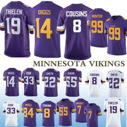 2019 camisetas vikingos minnesota Minnesota Jersey de Viking 19 Adam Thielen 8 Cousins STEFON 14 Diggs Anthony jerseys 99 Hunter 82 Rudolph 7 Wright NCAA 55 Smith 2019 rebajas camisetas vikingos minnesota