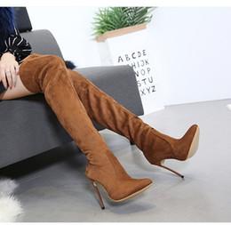 Knie Stiletto Über Rabatt 12cm2019 Stiefel 8OmNnv0w