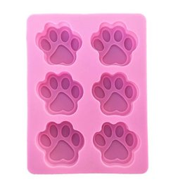 dog silicone cake mould Promo Codes - Cookie Baking Molds Dog Paw Silicone Mold Cake Decorating Tools Cookie Cutter Pastry Accessory Kitchen Accessoriess