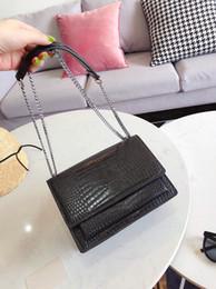 2020 bolsas de crocodilo vermelho Bolsas de luxo bolsas das mulheres designer de crocodilo ombro sacos crossbody saco da cadeia de moda Paris vermelho bolsas de alta qualidade saco feminino bolsas de crocodilo vermelho barato